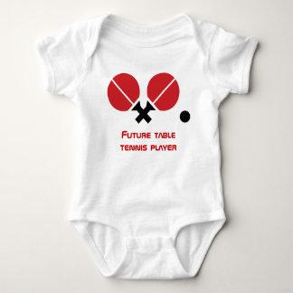 Estafas futuras del jugador del ping-pong de los body para bebé