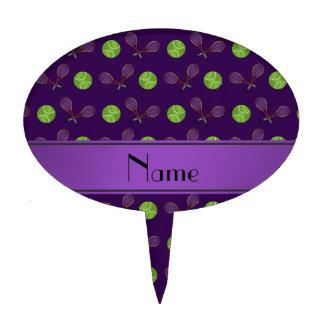Estafas púrpuras conocidas personalizadas de las decoraciones para tartas