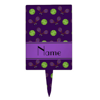 Estafas púrpuras conocidas personalizadas de las figura de tarta