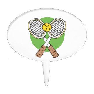 Estafas y bola de tenis decoraciones de tartas
