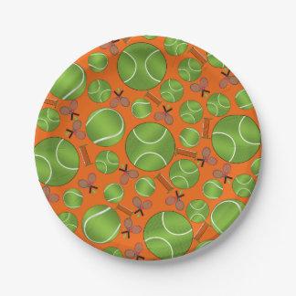 Estafas y redes anaranjadas de las pelotas de plato de papel de 7 pulgadas