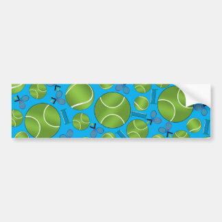 Estafas y redes de las pelotas de tenis del azul pegatina de parachoque