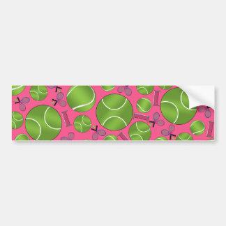 Estafas y redes rosadas de las pelotas de tenis pegatina de parachoque