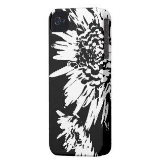 Estallando la alegría l extracto floral blanco y n iPhone 4 Case-Mate cárcasa