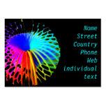 Estallar colores plantillas de tarjetas personales