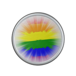Estallar la bandera del arco iris altavoz bluetooth