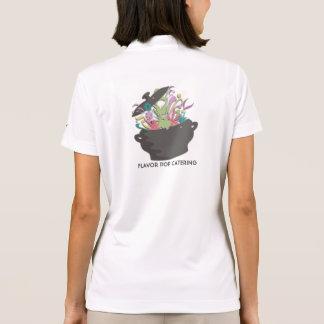 Estallar los aromas que cocinan la tarjeta del aba camiseta polo