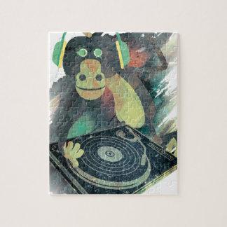 Estallido animal del disco de DJ de la música del Puzzle
