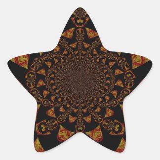 Estallido Art de Jamaica del negro del regalo de Pegatina Forma De Estrella