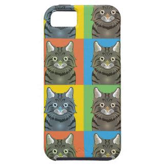 Estallido-Arte Bobtail americano del gato iPhone 5 Fundas