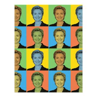 Estallido-Arte de Hillary Clinton Membretes Personalizados