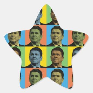 Estallido-Arte de Ronald Reagan Calcomania Forma De Estrella