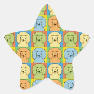 Estallido-Arte del dibujo animado del caniche Calcomanías Forma De Estrellaes Personalizadas