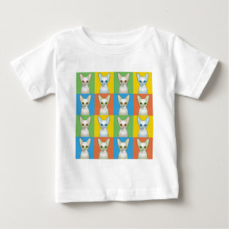 Estallido-Arte del dibujo animado del gato del Playera Para Bebé