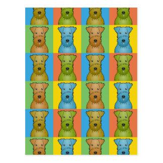 Estallido-Arte del dibujo animado del perro de Air Tarjetas Postales