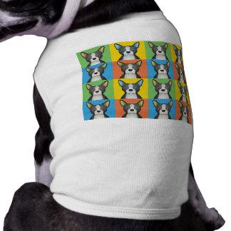 Estallido-Arte del dibujo animado del perro de Bos Ropa De Mascota
