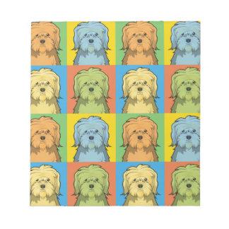 Estallido-Arte del dibujo animado del perro de Löw Bloc De Notas