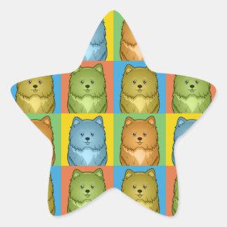Estallido-Arte del dibujo animado del perro de Calcomanía Forma De Estrellae