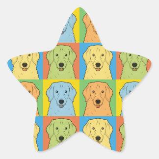 Estallido-Arte del dibujo animado del perro de Calcomanías Forma De Estrellaes Personalizadas