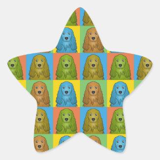 Estallido-Arte del dibujo animado del perro de Calcomanía Cuadrada Personalizada
