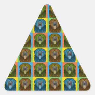 Estallido-Arte del dibujo animado del perro de Calcomania De Trianguladas