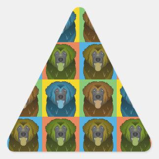 Estallido-Arte del dibujo animado del perro de Calcomanías De Trianguladas