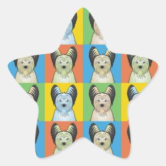 Estallido-Arte del dibujo animado del perro de Calcomanías Forma De Estrellas Personalizadas