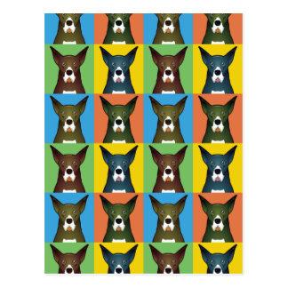 Estallido-Arte del dibujo animado del perro de Postales