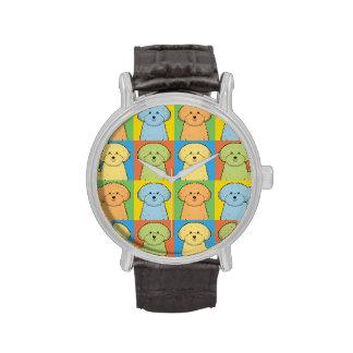 Estallido-Arte del dibujo animado del perro de Relojes De Mano