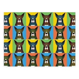 Estallido-Arte del dibujo animado del perro de Tarjetas Postales