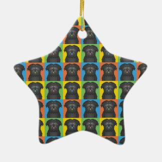 Estallido-Arte del dibujo animado del perro del Af Ornamente De Reyes