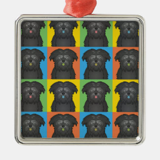 Estallido-Arte del dibujo animado del perro del Af Adornos De Navidad