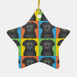 Estallido-Arte del dibujo animado del perro del Af Ornamentos De Reyes