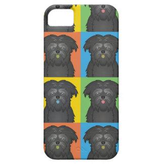 Estallido-Arte del dibujo animado del perro del Af iPhone 5 Carcasas