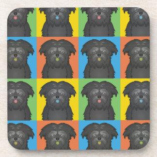Estallido-Arte del dibujo animado del perro del Af Posavasos De Bebida