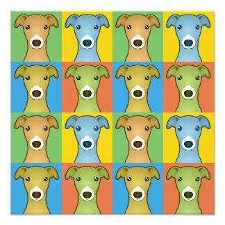 Estallido-Arte del dibujo animado del perro del ga Fotografias