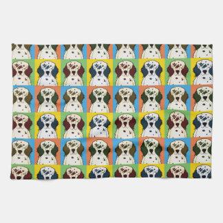 Estallido-Arte del dibujo animado del perro del or Toallas