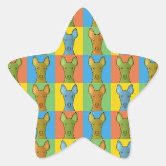 Estallido-Arte del dibujo animado del perro del Calcomanía Forma De Estrella