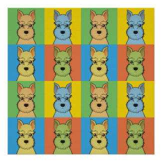 Estallido-Arte del dibujo animado del perro del Sc Impresiones
