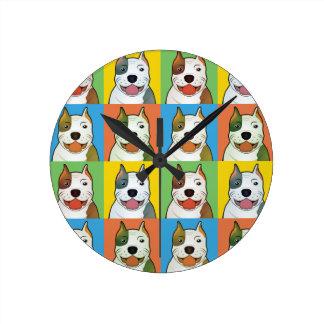 Estallido-Arte del dibujo animado del pitbull Relojes