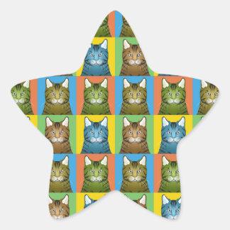 Estallido-Arte del gato de Bengala Pegatinas Forma De Estrellaes