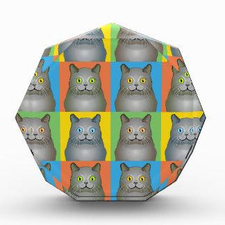 Estallido-Arte del gato de Chartreux