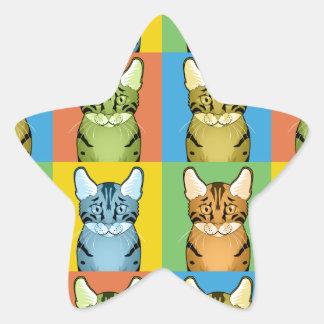 Estallido-Arte del gato de Mau del egipcio Colcomanias Forma De Estrella