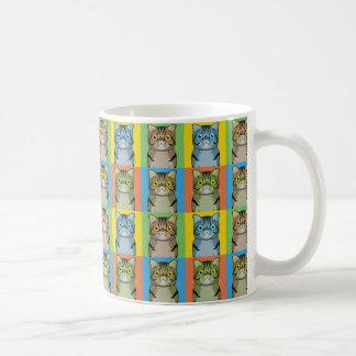 Estallido-Arte exótico del dibujo animado del gato Taza Clásica