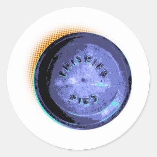 Estallido-Arte original de la lata de la empanada Pegatina Redonda