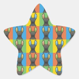 Estallido-Arte peruano del dibujo animado del Colcomanias Forma De Estrellaes Personalizadas