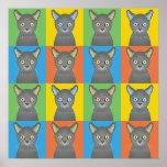 Estallido-Arte ruso del dibujo animado del gato az