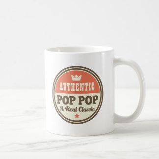 Estallido auténtico del estallido una obra clásica tazas de café