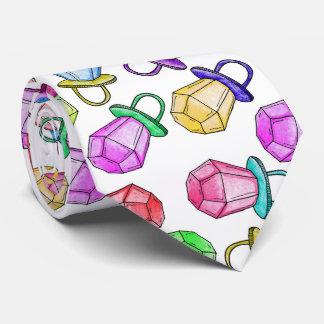 Estallido colorido de neón del caramelo del anillo corbata