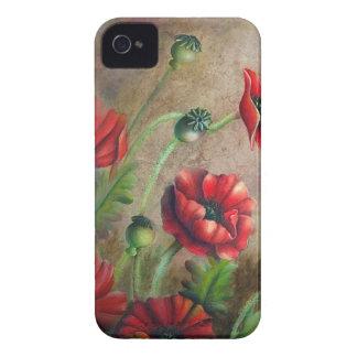 Estallido de la cubierta roja del iPhone 4 iPhone 4 Case-Mate Protectores